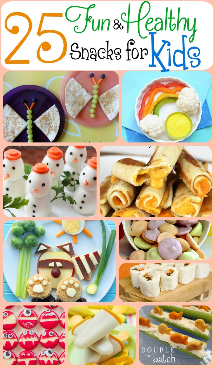 Fun and Healthy snacks for kids! My kids will EAT THESE UP!