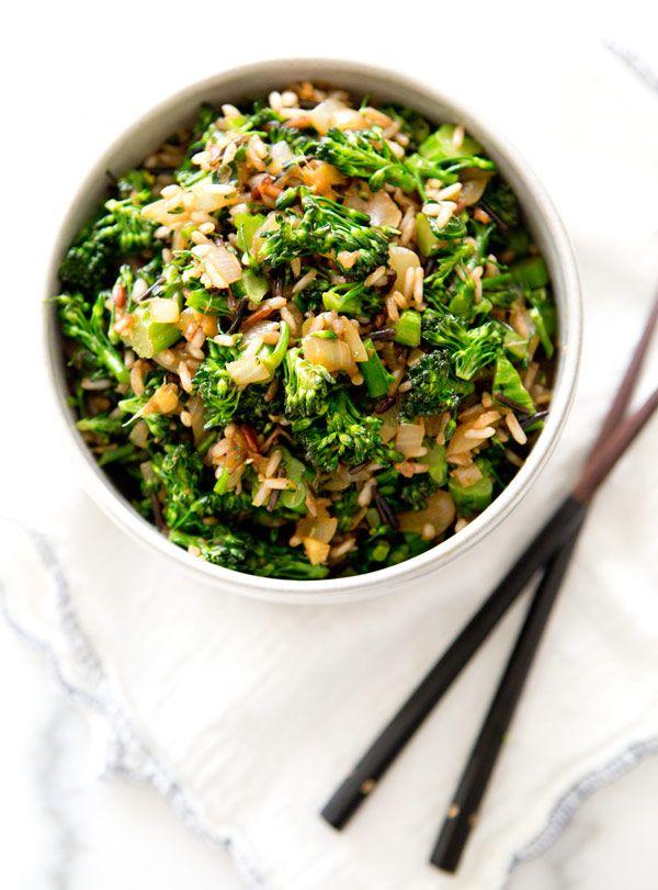 Broccolini fried rice.