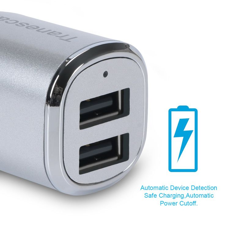 iPad Pro and More-Silver 5 SE 5S 5 5C HTC,Nexus LG G6 G5 V10 V20 Samsung Galaxy S9 S8 S7 S6 Edge Note 8 4 Tranesca 4.8A//24W 2 USB Port Car Charger Compatible with iPhone X 8 7 6S 6 Plus