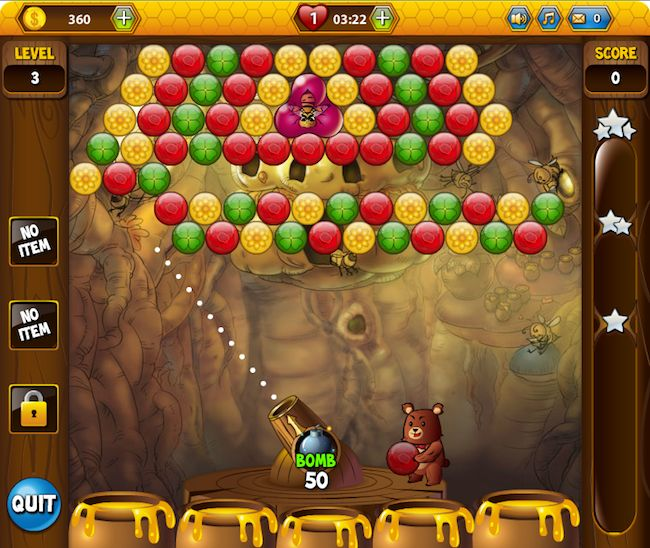 bubble games/wubble honey bear | Bubble-popping, honey-stealing fun with Buggle
