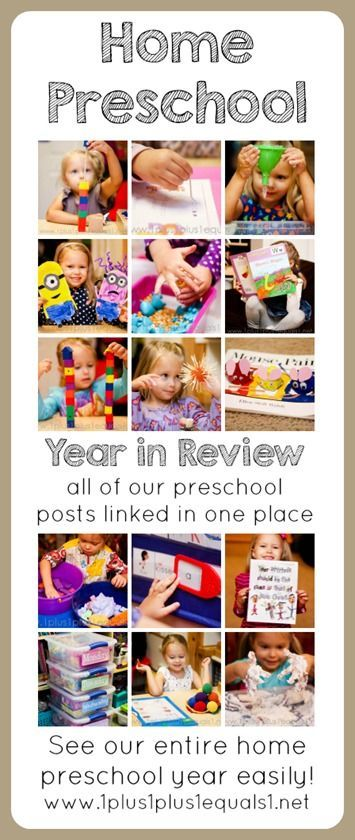 Home Preschool Ideas ~ an entire year of homeschool preschool, links to all posts!