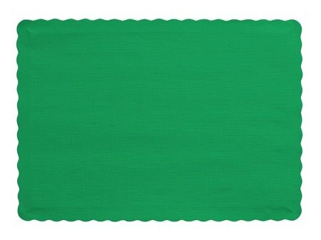 """Emerald Green Placemats 9.5"""""""" x 14in 