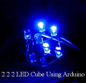 Video of Amazing Patterns in 2*2*2 LED Cube using Arduino Mega (Part 13 of 13) « Funny Electronics