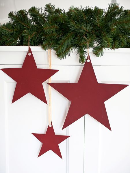 Simple and beautiful. Cheap version: use cardboard - Glam them up and hang from kitchen window