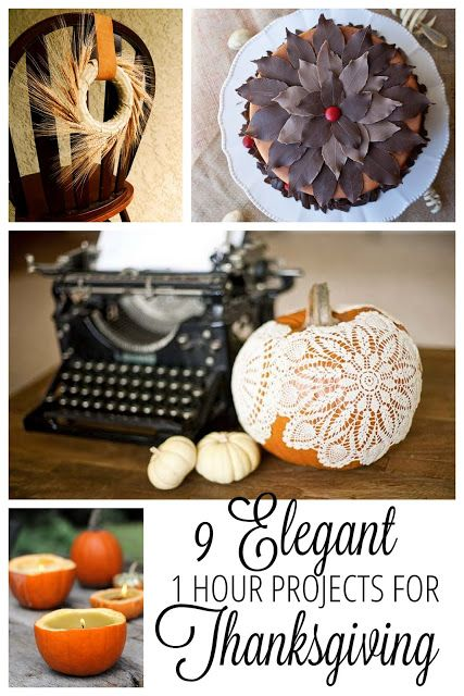9 Simple Elegant Thanksgiving Crafts and DIY Projects for your table.| http://www.makeithandmade.com/2013/11/9-diy-thanksgiving-crafts-for-you.html#_h4lUQu