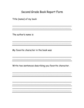 17 best book report forms images on Pinterest Book report - printable book report forms