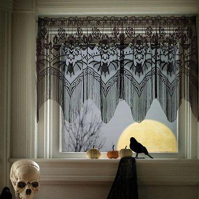 heritage lace halloween gala door swag