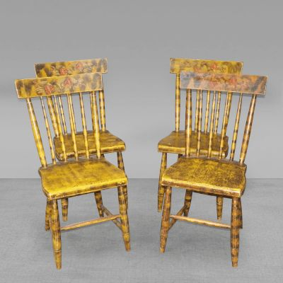 Set of Smoke Decorated Chairs