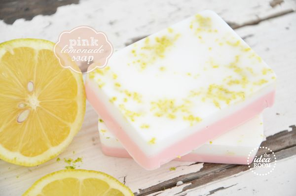 Pink Lemonade Soap: This DIY soap, inspired by pink lemonade, will definitely be a hit.  Source: The Idea Room