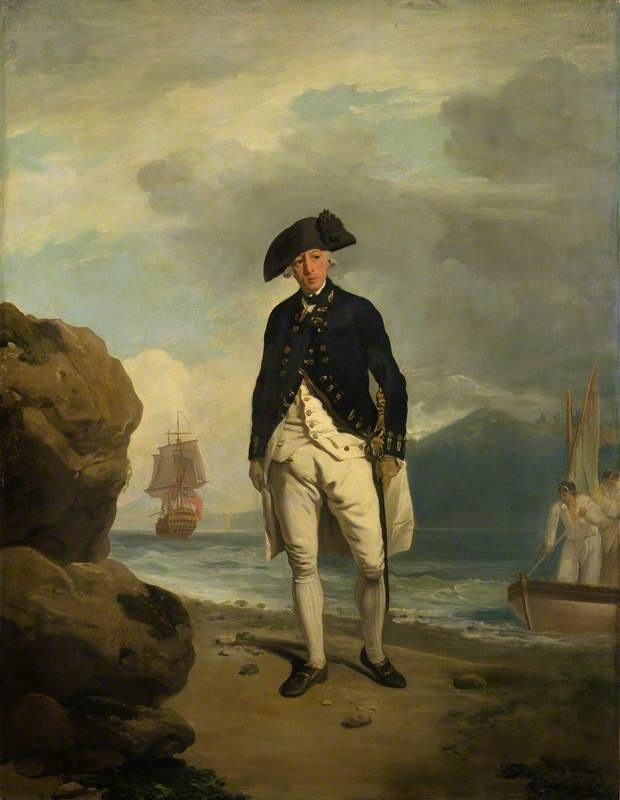 Arthur Phillip by Francis Wheatley Date painted: 1786 Oil on canvas, 90.2 x 69.2 cm Collection: National Portrait Gallery, London - Phillip spent his whole career in the Navy, as an officer and as a naval spy. After many campaigns and expeditions, he landed in Australia at Port Jackson in January 1788 where he founded the first convict settlement, which later became the city of Sydney.