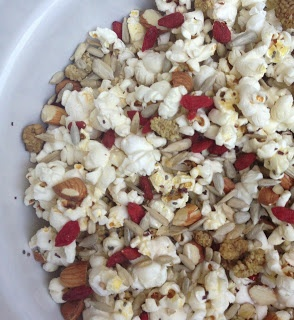 Pimped up popcorn!   http://www.mywholefoodromance.com/2013/04/pimp-up-your-popcorn.html