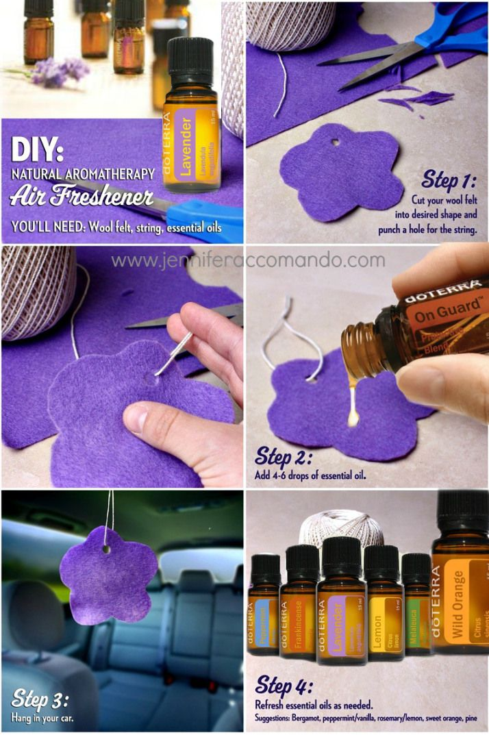 homemade air freshener using essential oils. Good idea for laundry room or