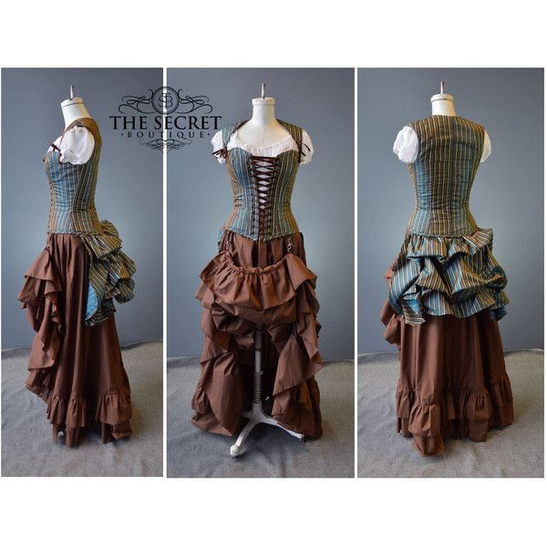 steampunk couture-steampunk costume-halloween-renaissance-the secret... ($608) ❤ liked on Polyvore featuring costumes, victorian costumes, victorian halloween costumes, plus size steampunk costume, renaissance costume and blue costume