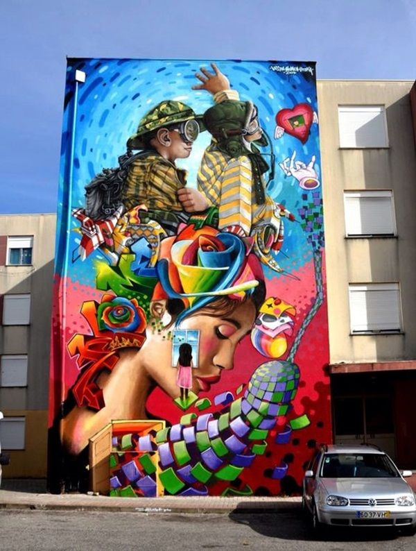 Best Street Art Images On Pinterest Street Artworks And - Spanish street artist transforms building facades into amazing artworks