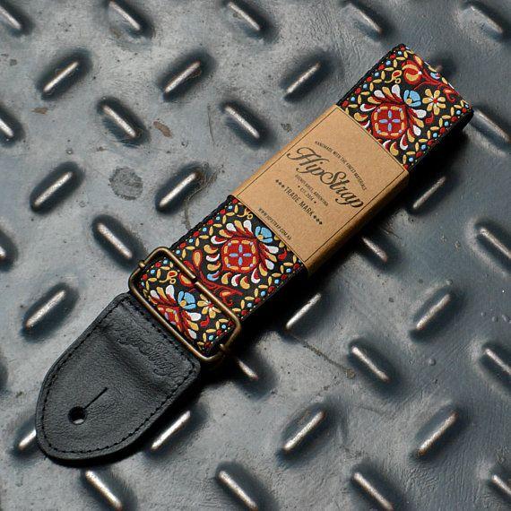 Hipstrap Haze Vintage Style Guitar Strap Leather Ends Etsy Guitar Strap Leather Guitar Straps Guitar Accessories