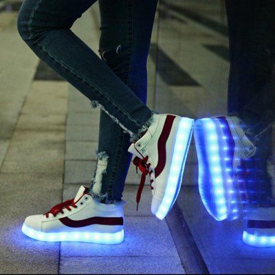 Unisex USB Chargeable Breathable LED Shoes for Adults-30.50 and Free Shipping  GearBest.com