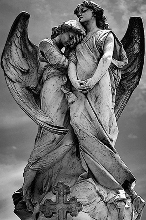 ☫ Angelic ☫ winged cemetery angels and zen statuary - companion angels
