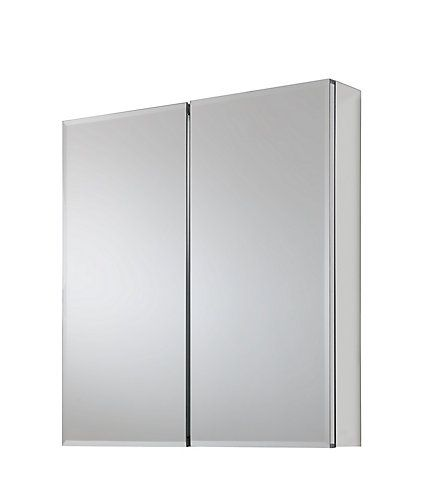 The Glacier Bay 24 inch x 25.50 inch mirrored cabinet features a Bi-View bevelled frameless door that can be installed with hinge. As functional as it is stylish, this cabinet opens almost flush to the wall and has 3 adjustable glass shelves for plenty of storage and a mirror on the front, on the inside and on the side. Easy to install with a hanging kit included, this cabinet can either be recessed or surface mounted and will provide years of use and enjoyment. Limited Lifetime Warranty.