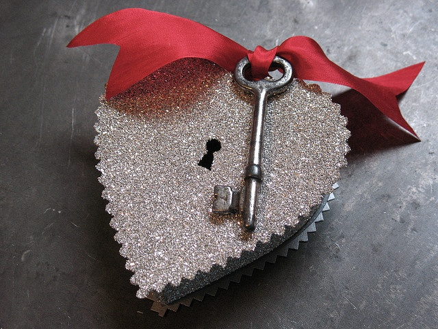 As long as you hold on to your key. Your heart will never be open...the secret is in giving it away.....