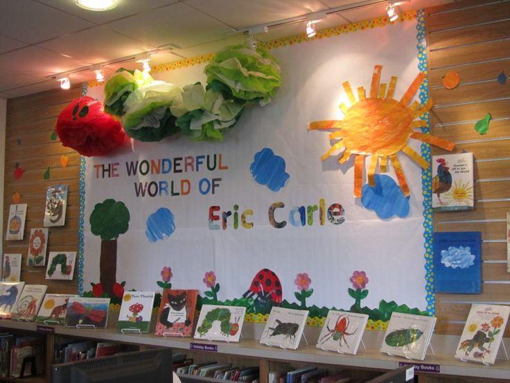 Classroom Display Ideas Kindergarten ~ My eric carle book display displays pinterest