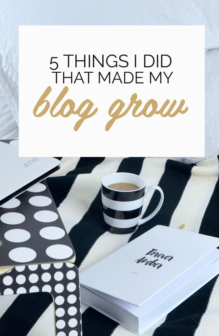5 things I did that made my blog grow