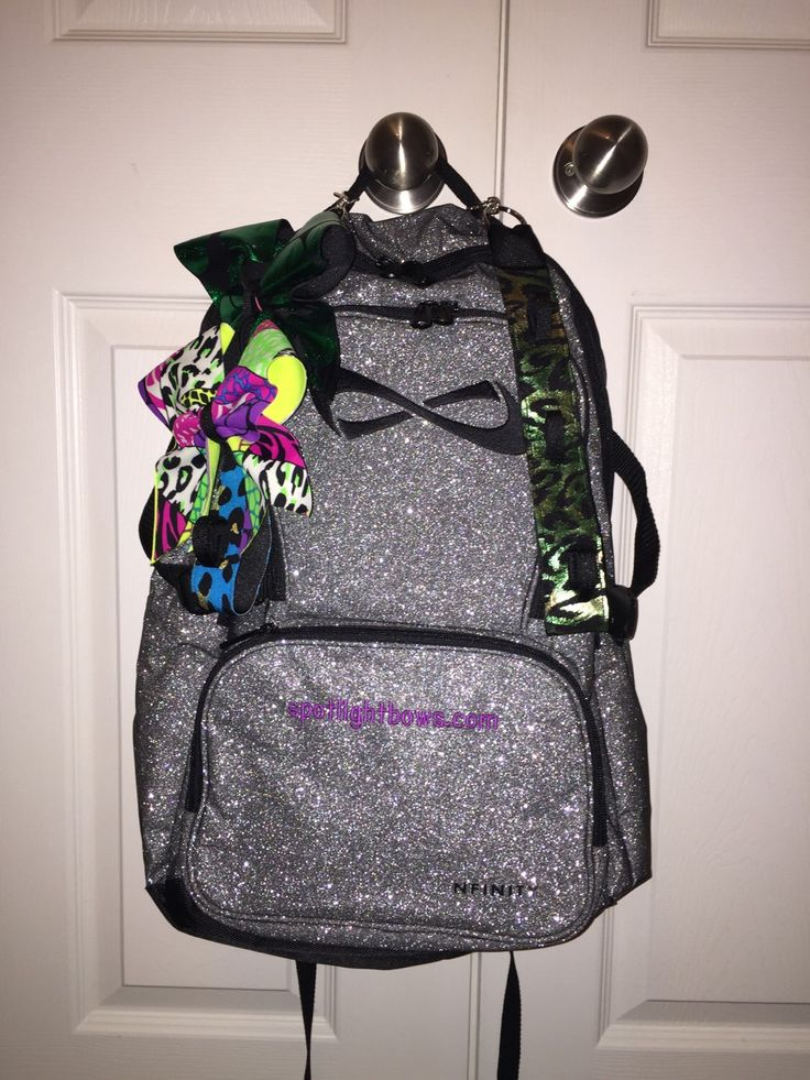 Nfinity backpack strap Mini cheer bow strap for backpack by SpotlightCheerBows on Etsy https://www.etsy.com/listing/212348761/mini-cheer-bow-strap-for-backpack