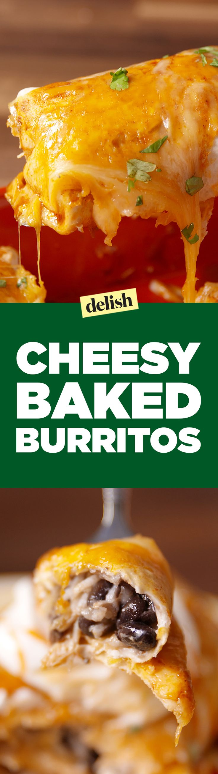These cheese baked burritos put Chipotle to shame. Get the recipe on Delish.com.