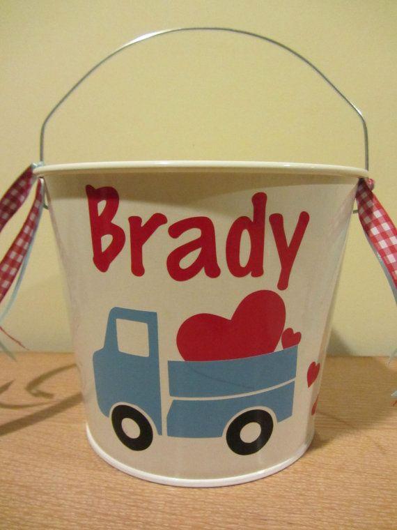 Personalized Valentine S Bucket Basket Pail 5 By