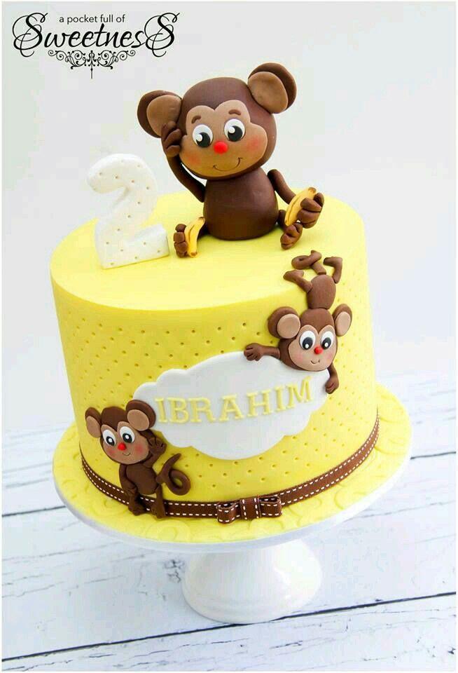 monkey birthday cake template - 25 pinterest