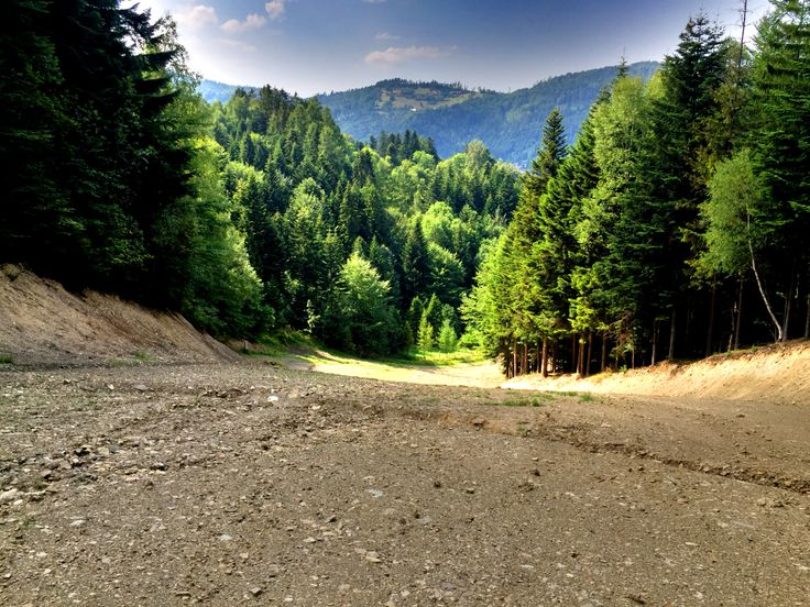 Przeprofilowana trasa FIS w Szczyrku