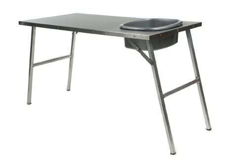Front Runner Vehicle Outfitters Products > Camping Gear.  Stainless steel prep table w/ basin.