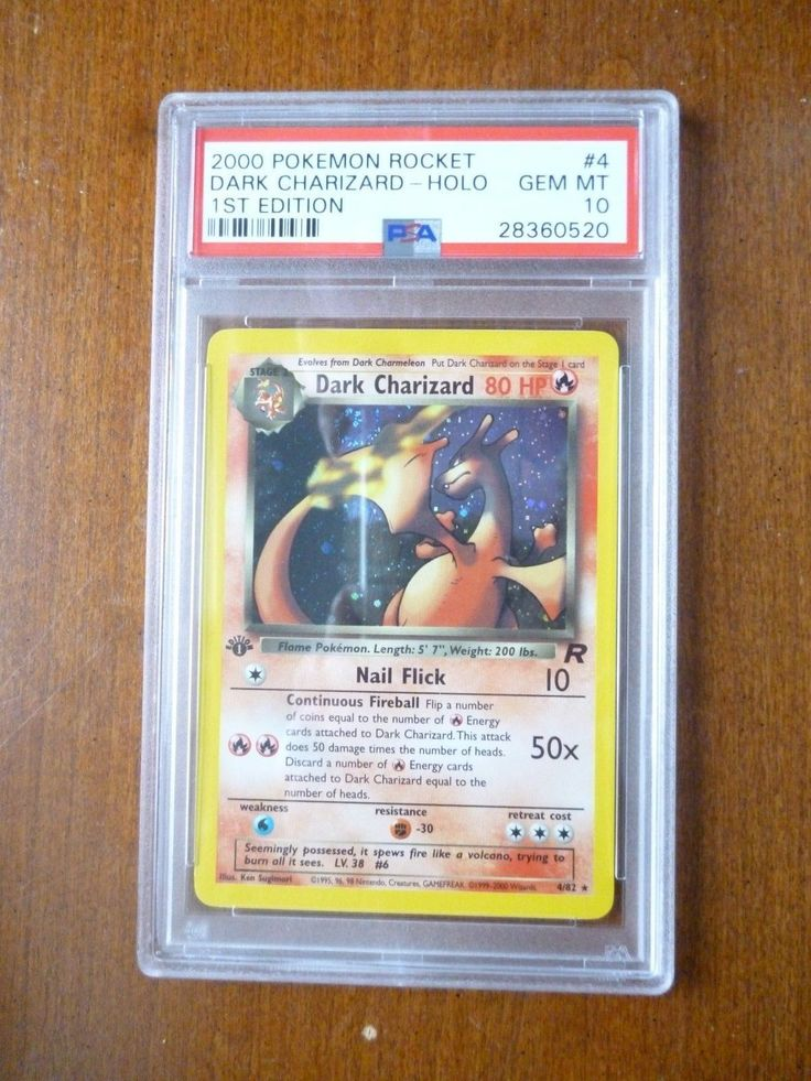 2000 Pokemon  Team Rocket 1st Edition Dark Charizard 4/82 PSA 10 Gem Mint