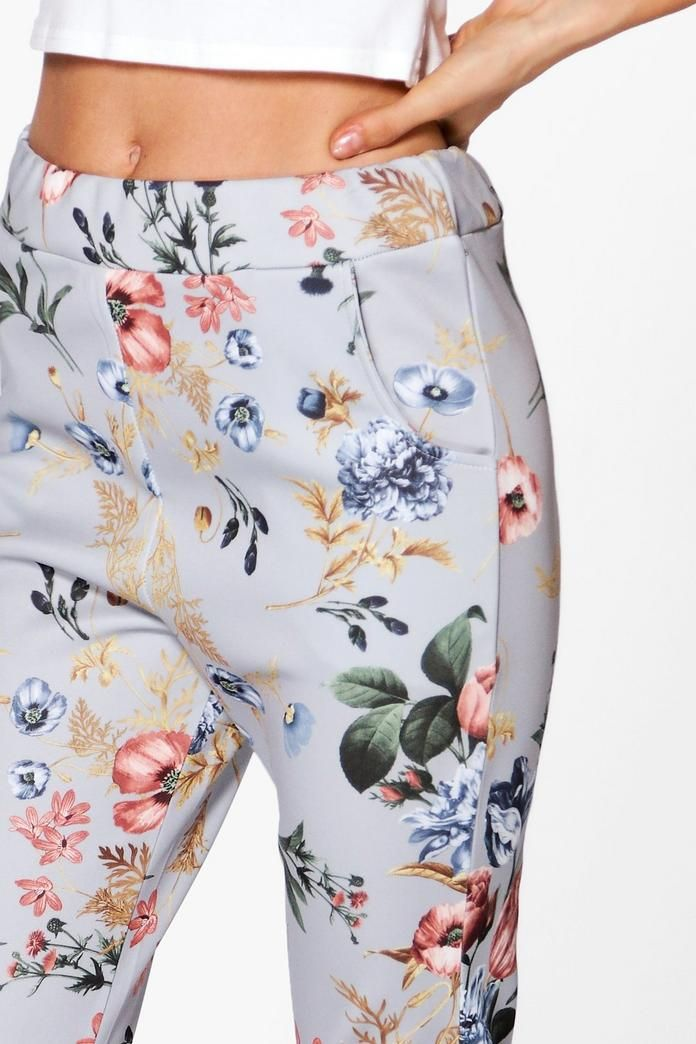 Cate Floral Stretch Skinny Trousersalternative image