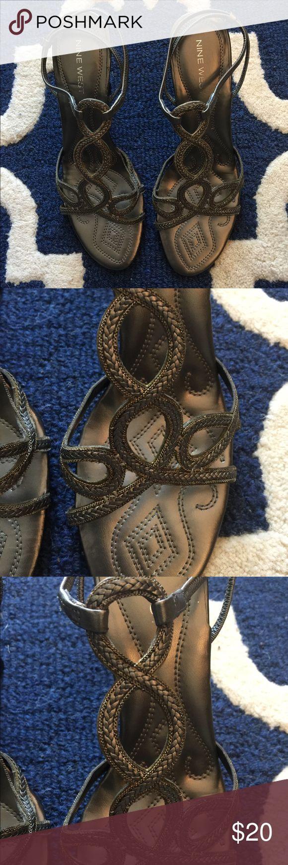 Nine West Pewter Sandal Pewter Sandal Shoes Sandals