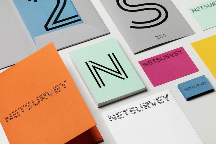 Branding for Stockholm based Netsurvey by The Studio. #print #stationery