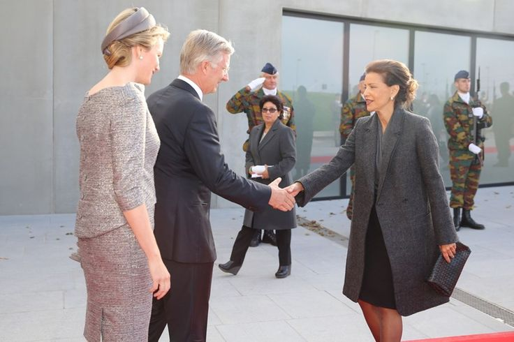 Queen Mathilde and King Philippe attends a ceremony marking the 100th anniversary of the Battle of the Ypres and the First Battle of Ypres during the First World War in Ypres, Belgium. 28 October 2014