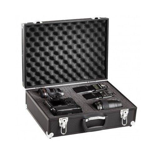 Waterproof Camera Case Aluminium Briefcase Foam For DSLR Digital SLR Lens Black
