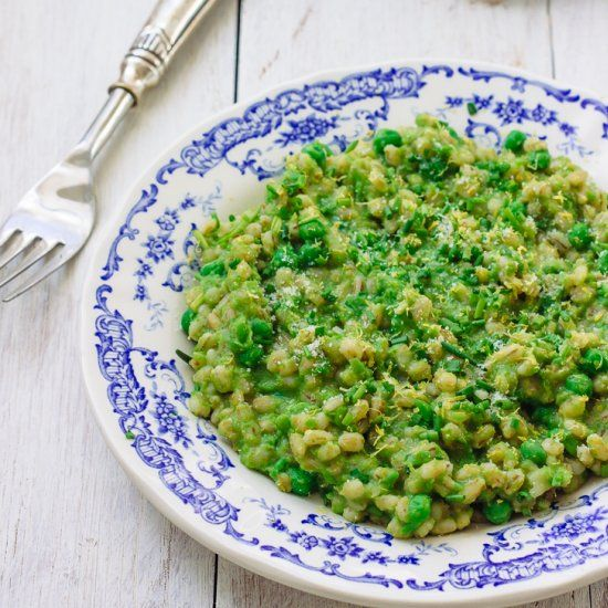 Barley Risotto with Peas | For the Love of Food | Pinterest | Barley ...