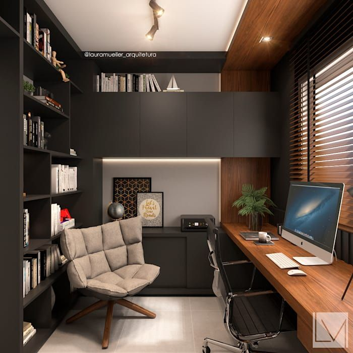 Your Office Space Can Take The Form Of Many Interior Design Styles It Could Be A Bit Farmhouse O Modern Office Interiors Small Home Offices Home Office Design