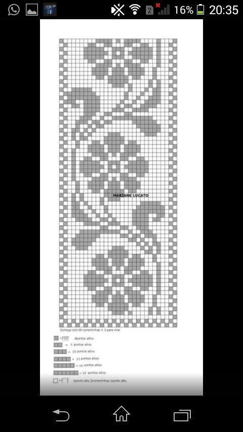 Lindo modelo de crochê para Tapete ou passadei.ra, Segue aqui o gráfico.. - 11:22:08