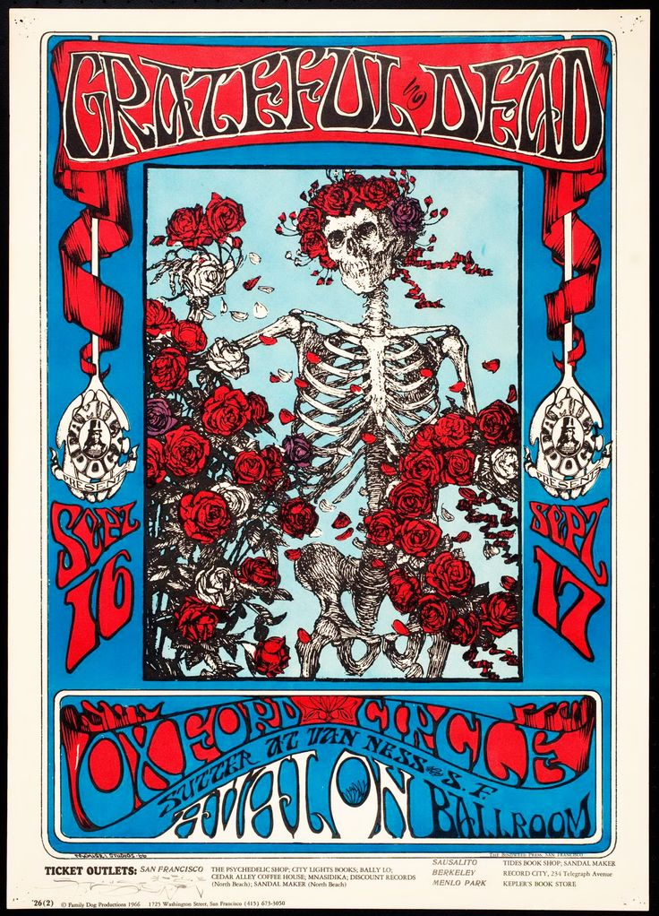 Find this Pin and more on Psychedelic 60's by bobughetti. Grateful Dead poster for the Avalon Ballroom in San Francisco ...