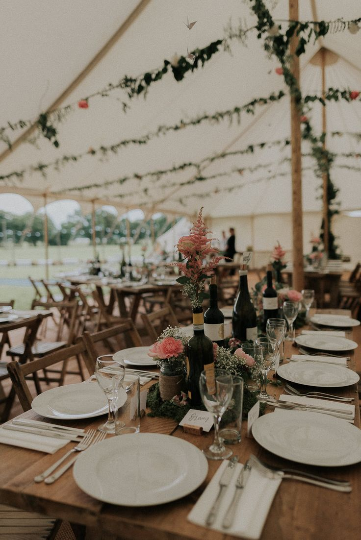 Marquee Reception - Scuffins Photography | DIY Country Marquee Wedding in the New Forrest