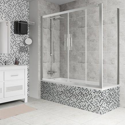Un baño de diseño en tonos grises ¿Qué te parece? #leroymerlin #micasa #sanitario