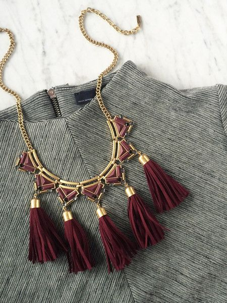 This fringe bib necklace is a stand-out statement and so much more! Pinterest: @oliveandpiper | *Limited Quantity left