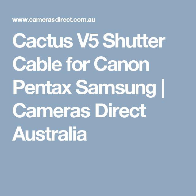 Cactus V5 Shutter Cable for Canon Pentax Samsung | Cameras Direct Australia