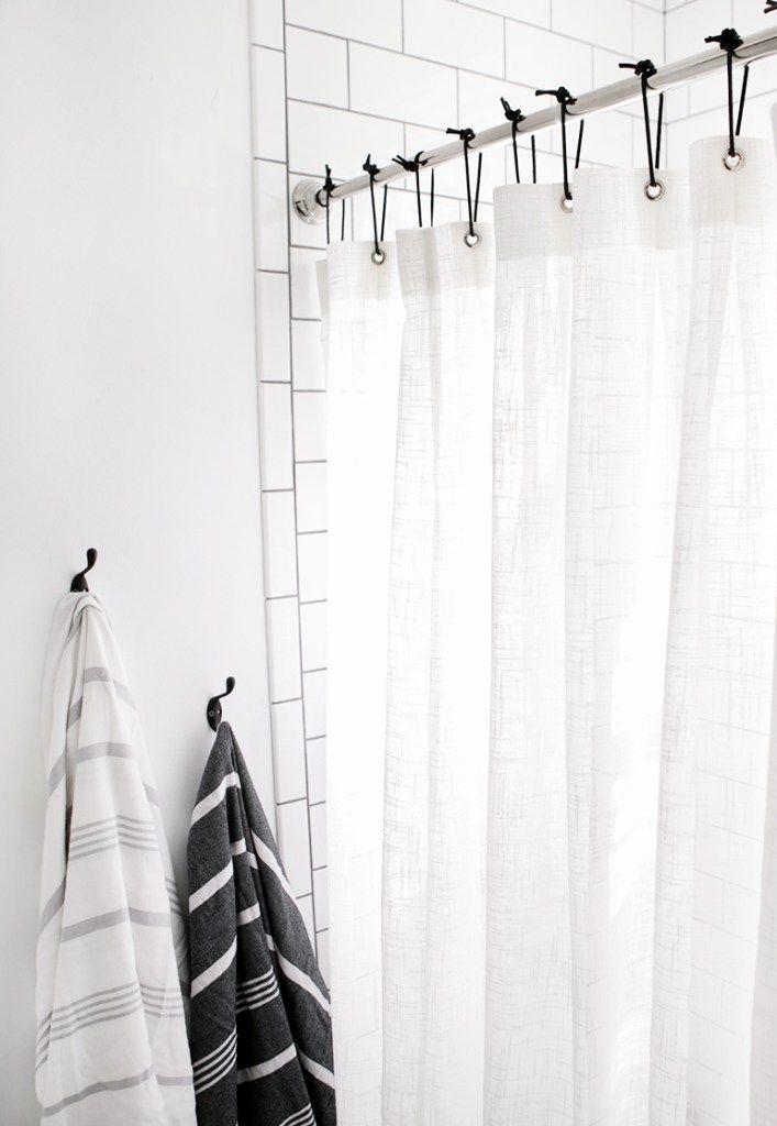 11 Tips For A Minimal Clutter Free Bathroom Diy Home Decor Your Diy Family Diy Shower Curtain Black Shower Curtains Minimalist Showers