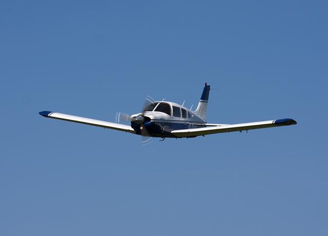 Piper PA-28-200R Arrow flying with my dad in his plane