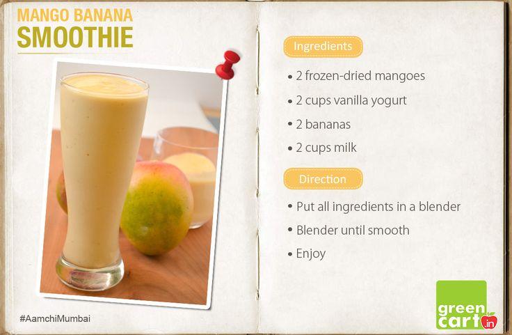 Mango Banana Smoothie!!