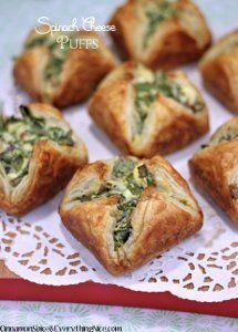 Spinach Cheese Puffs   FaveHealthyRecipes.com