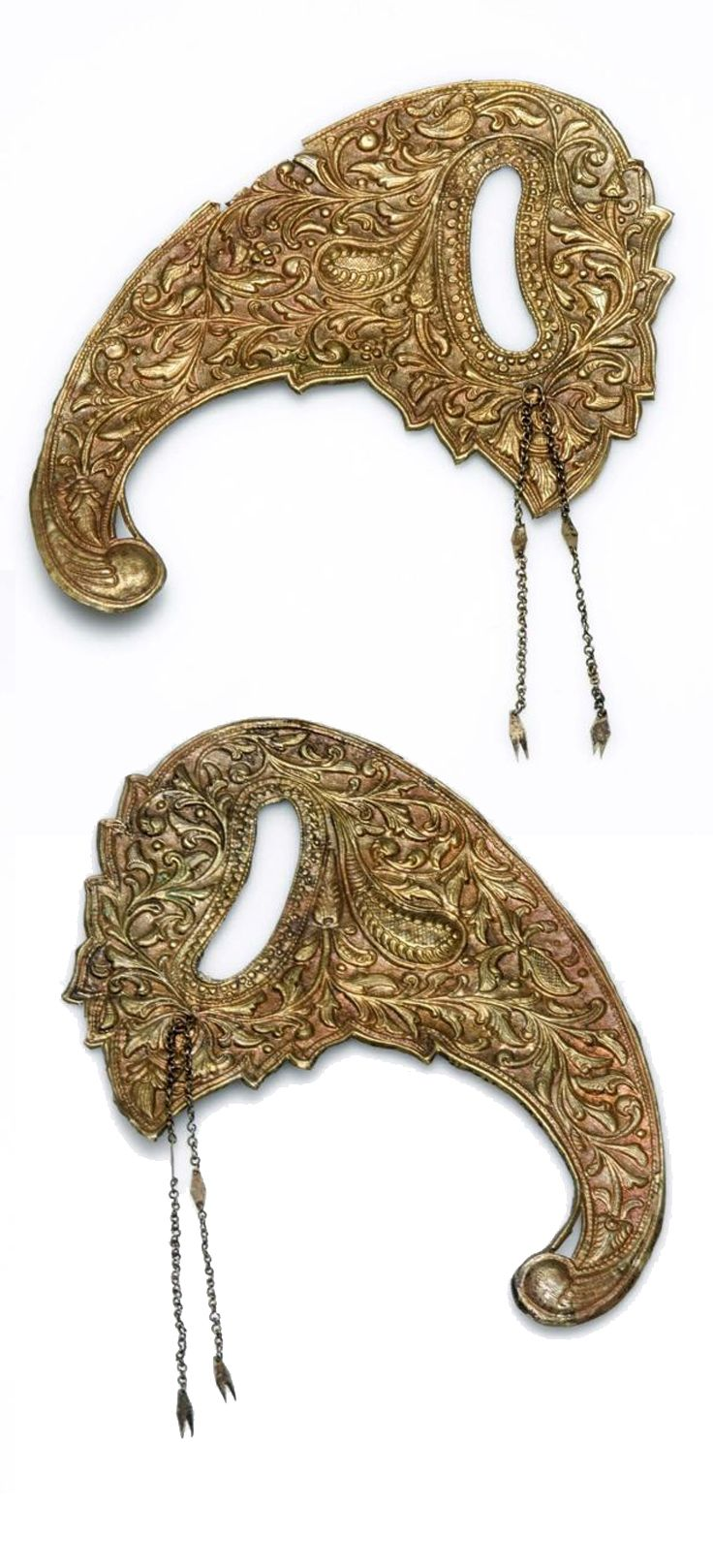 Indonesia ~ Java | Gilded bass headdress ornament | ca. 1970 or earlier